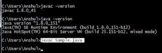 kompilasi file Java dengan compiler pada command prompt Windows