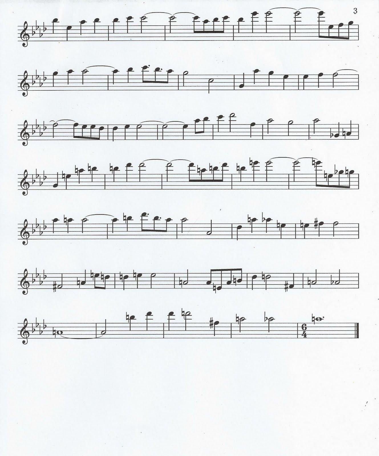 Bollywood Sheet Music September 2011: Flute & Tenor Sax Sheet Music :): Kiss The Rain