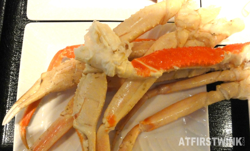 snow crab legs all you can eat buffet dinner Kyoto station Japan