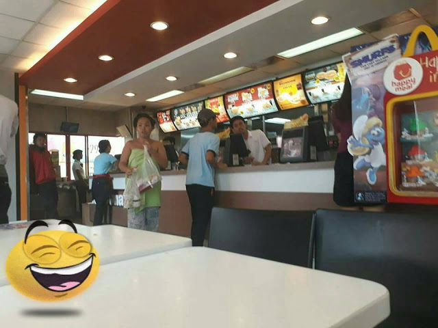 SHOCKING: This Girl Bought Food at McDonald's Fast Food Restaurant Wearing Pajamas and Towel!