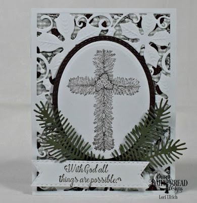 Our Daily Bread Designs Stamp Set: Praise the Lord, Custom Dies: Pine Branches, Double Stitched Pennant Flags, Ovals, Oval Stitched Rows, Poinsettia Inset Panel, Paper Collection: Christmas 2017