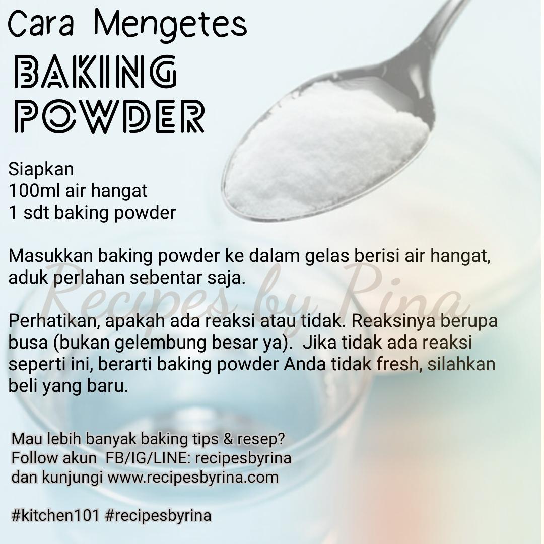 Cara Mengetes Baking Powder Baking Soda Cream Of