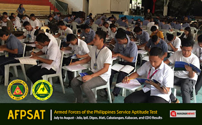 July - August 2017 AFPSAT Results Mindanao - AROMIN