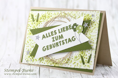 stampin up frühjahrskatalog 2016; Sale a bration 2016; Geburtstagskarte Jungs; Stampin Up Meine Party; Stampin' Up grüne Karte