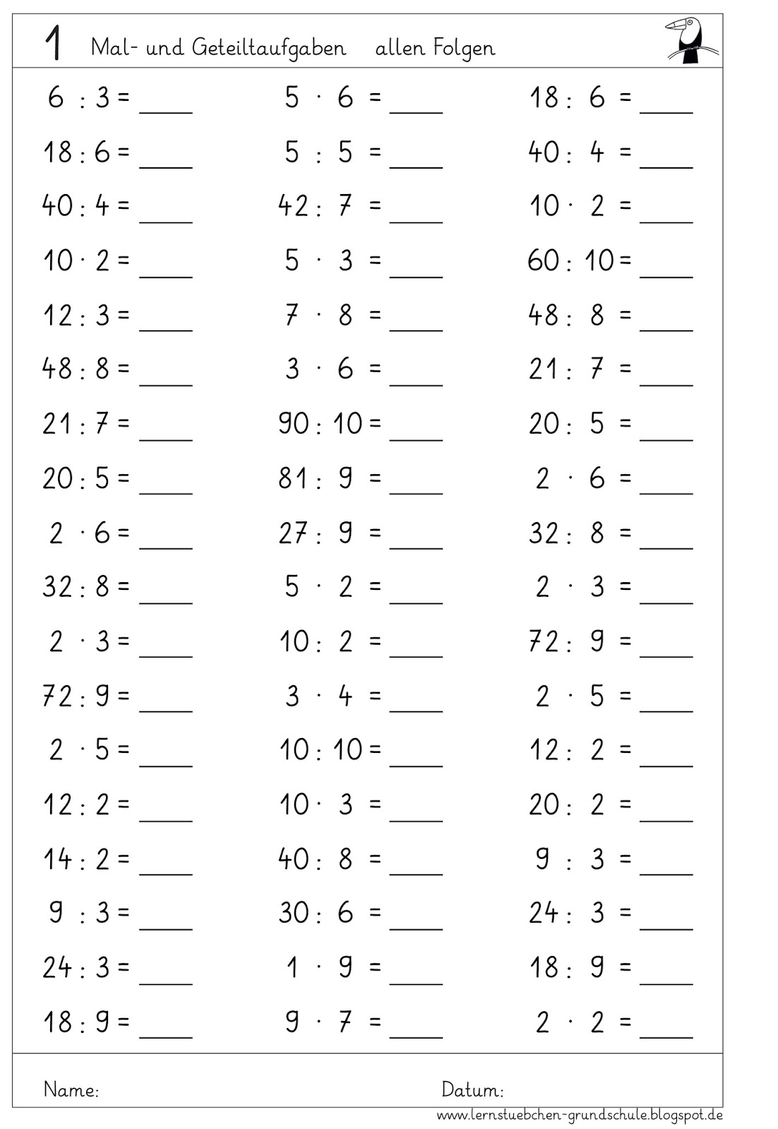 Schulaufgaben 3 klasse mathe