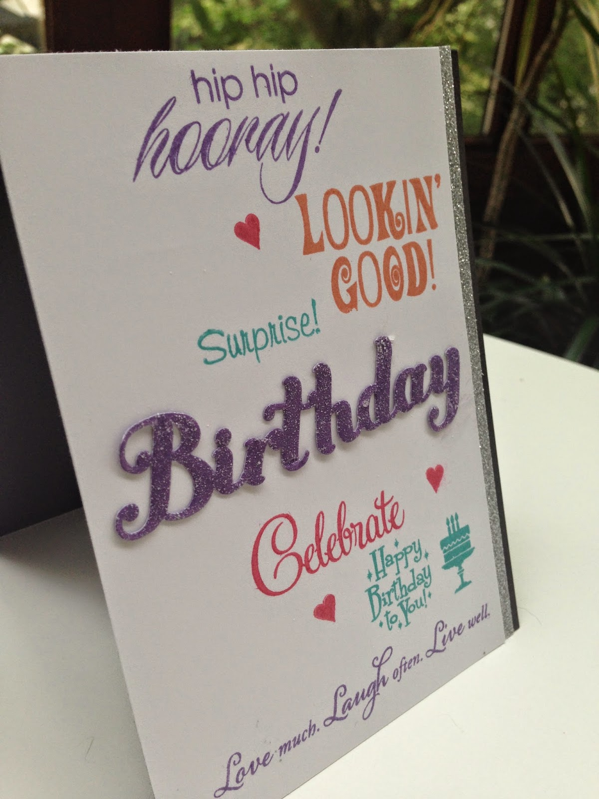 justine's cardmaking making bulk birthday cards with