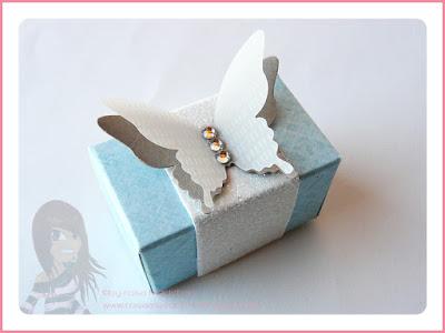 Stampin' Up! rosa Mädchen Kulmbach: Mini Schmetterlingsschachtel mit dem Envelope Punch Board