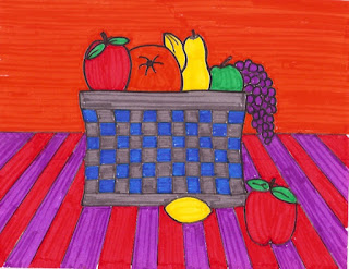 How to Draw a Basket of Fruit (ages 7 and Up)