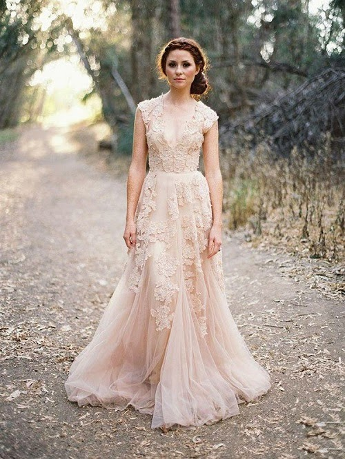 Though Not Drastically Diffe From White Wedding Dresses Champagne Colored Gives Off A More Feminine And Elegant Vibe