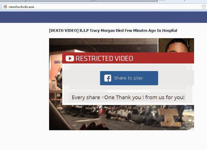 Tracy Morgan Dead? Facebook Scam Targeting Users with Malware