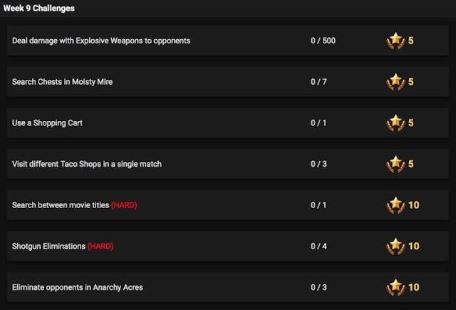 Los retos de la semana 9 de Fortnite han sido filtrados