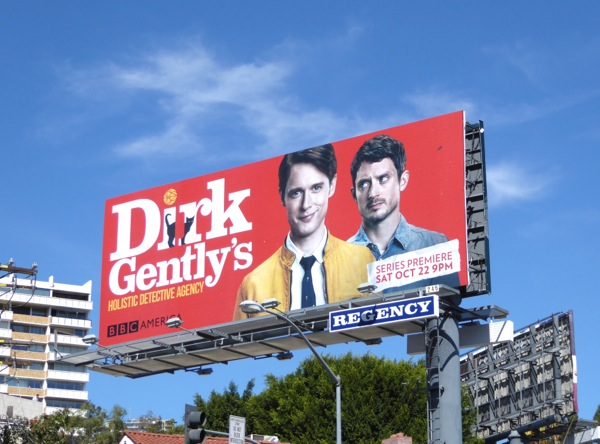 Dirk Gently series launch billboard