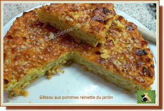 Vie quotidienne de FLaure : Gâteau aux pommes reinette du jardin
