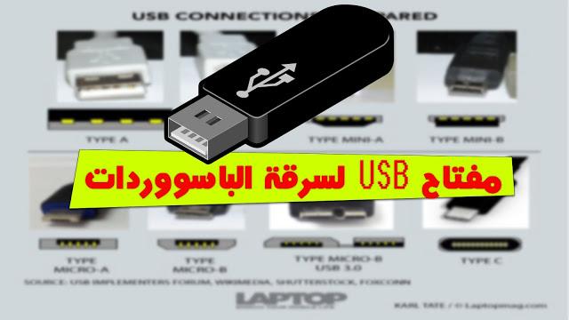 إنشاء USB قادر على سرقة جميع الباسووردات الموجودة على أي حاسوب !