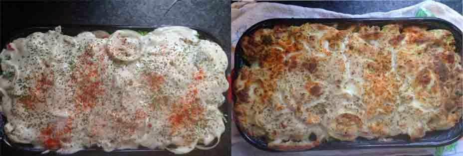 Rakott karfiol és brokkoli 3. lépés
