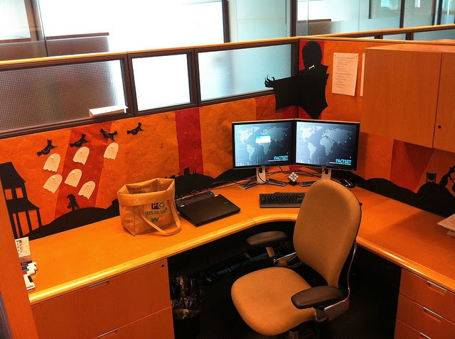 Office anything furniture blog october fun halloween - Work office decorating ideas pictures ...