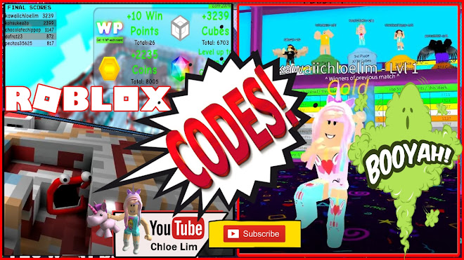 Roblox Colour Cubes Gameplay! 2 CODES! From Noob to Winning the FIRST PLACE!