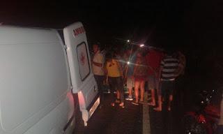 Motos colidem e deixa três feridos entre as cidades de Nova Floresta e Cuité