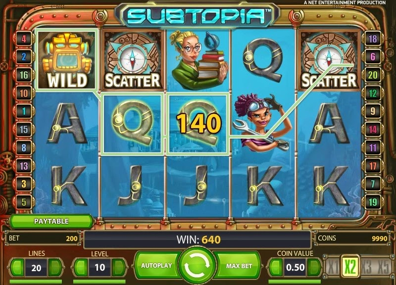 Subtopia Video Slot Screen