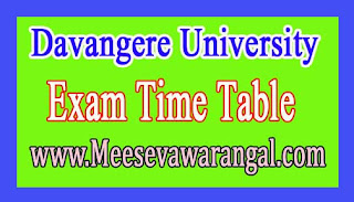 Davangere University PG 2016 Exam Time Table