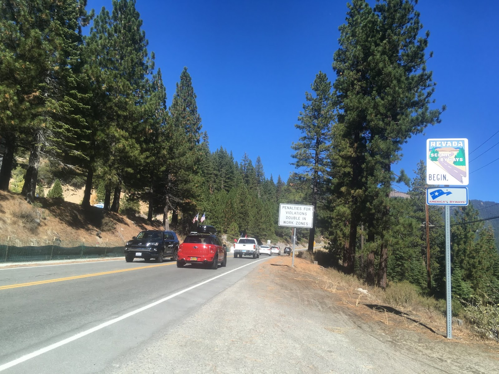 nv 28 is signed as a nevada scenic byway and winds around the north and east shore of lake tahoe to us route 50