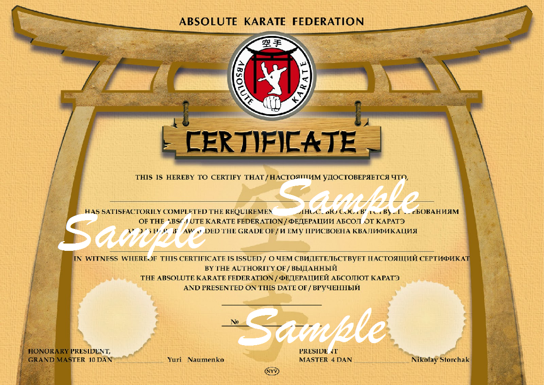 Taekwondo certificates hd joy studio design gallery for Karate certificates templates free