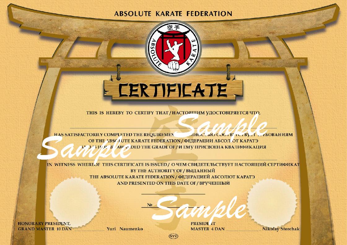 Taekwondo certificates hd joy studio design gallery for Martial art certificate templates free