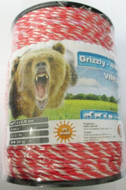 Vinex Grizzly villanypásztor vezeték