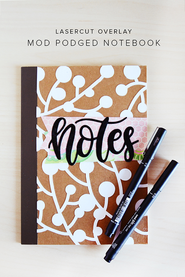 Notes book handlettered