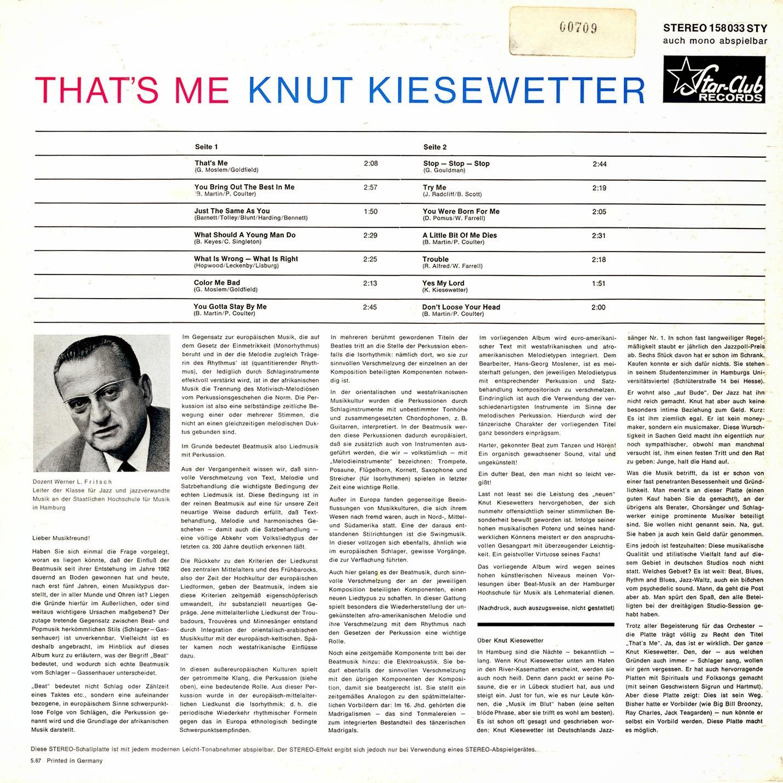 Knut Kiesewtter - That's Me (1967)