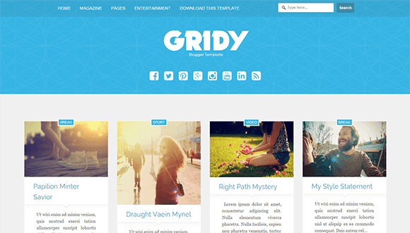 Gridy Blogger Template