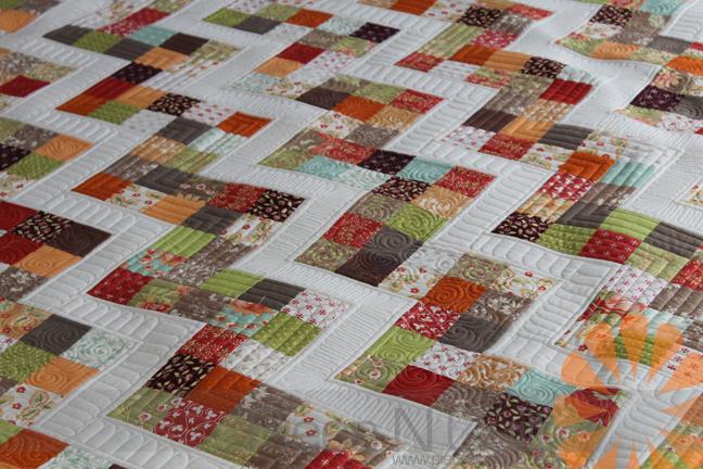 Hello Zig Zag Quilt Pattern : Piece N Quilt: Scrappy Zig Zag Quilt - Custom Machine Quilting by Natalia Bonner
