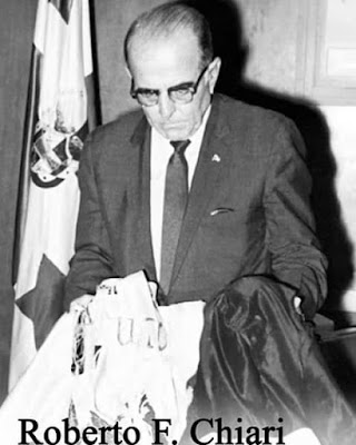Histórica llamada del Presidente de la Dignidad Don Roberto F.Chiari al Presidente Lindon Baynes Jhonson