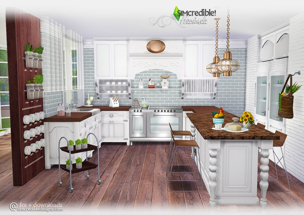 My sims 4 blog hacienda kitchen set by simcredible designs for Kitchen ideas sims 4