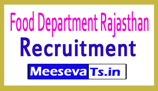 Food Department Rajasthan Recruitment