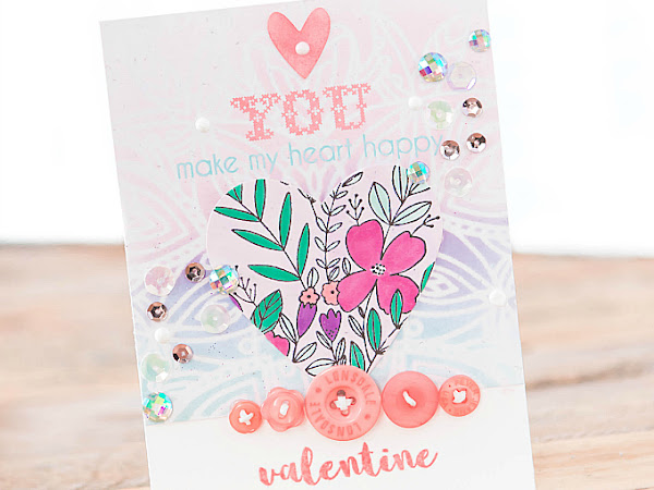You Make My Heart Happy - Pinkfresh Studio, Simon Says Stamp + Papertrey Ink | Mix and Match Backgrounds