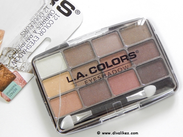 L.A.Colors 12 Color Eyeshadow Traditional