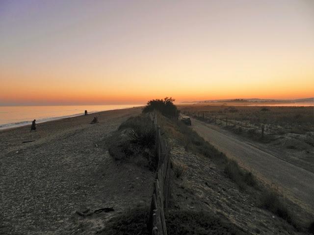 spiaggia carnon montpellier tramonto