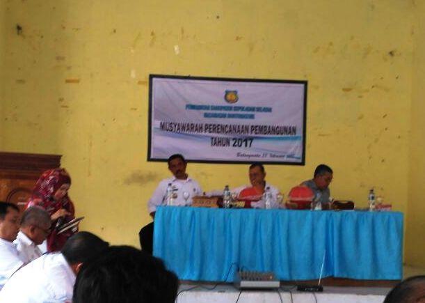 Drs.H.Baso Lewa, Buka Musrenbang ,Kecamatan, Bontomatene, selayar