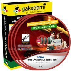 Görüntülü KPSS Vatandaşlık Eğitim Seti 12 DVD