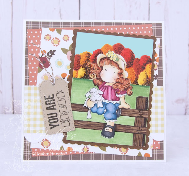 Heather's Hobbie Haven - Tilda with Stuffed Animal Card Kit