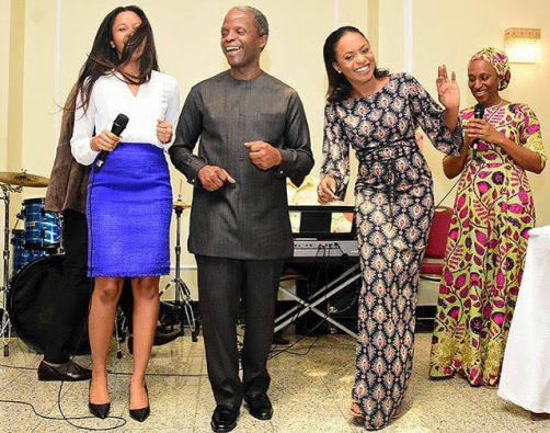 Photos/Video from vice President Osinbajo's birthday party in the villa