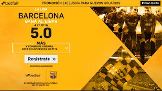 betfair supercuota 5 Barcelona gana Eibar Liga 22 enero