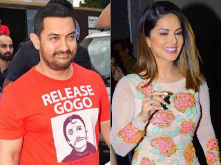 Aamir Khan celebrates Diwali with Sunny Leone