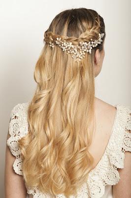 Peinados de novia semirecogidos ¡Increíble Moda Juvenil!