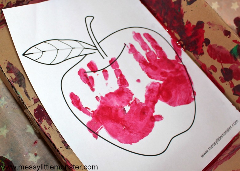 printable apple theme preschool activities