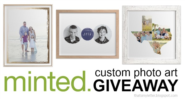 Minted photo art giveaway