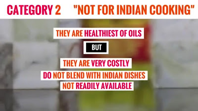 olive oil, almond oil and avocado oil - healthiest cooking oil, but don't blend with Indian cooking