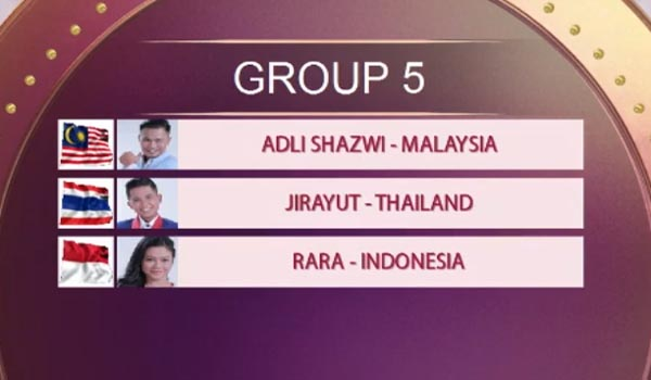 urutan tampil grup 5 top 15 da asia 4