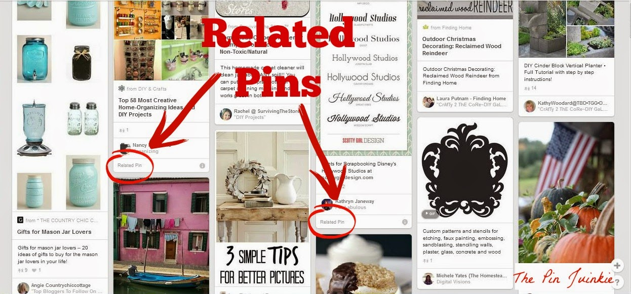 related pins in Pinterest Smart Feed
